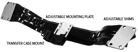Transfer case adjustable mounting plate