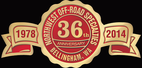 Northwest Off-Road Specialties 36th Anniversary Logo